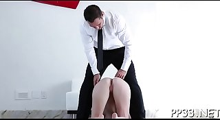 Sexy doggy style plowing