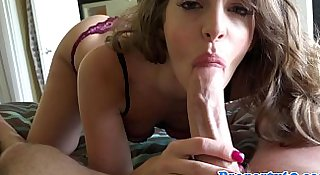 Realtor pussyfucked after hot pov blowjob