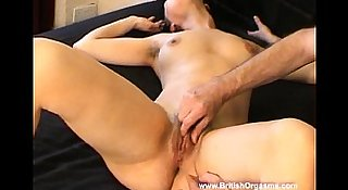 Hairy Lacey gets dripping wet and cums