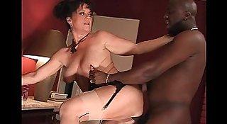 Milf riding big black cock