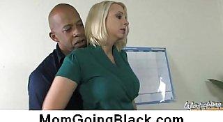 Busty Blonde Interracial Sex 2