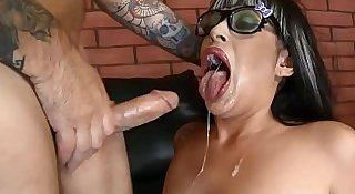Hardcore face fucking for submissive MILF Dasani Lezian