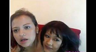 Two Latina MILFs Having Fun