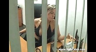 MILF secretary seduce her boss