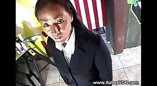 Busty Asian MILF ass fucked