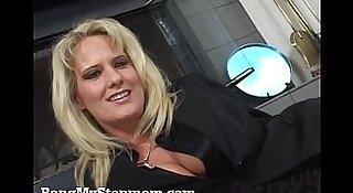 Blonde MILF Rides Her Stepson's Big Cock!
